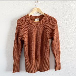 Rust Brown Knitted Sweatshirt Sweater Size M